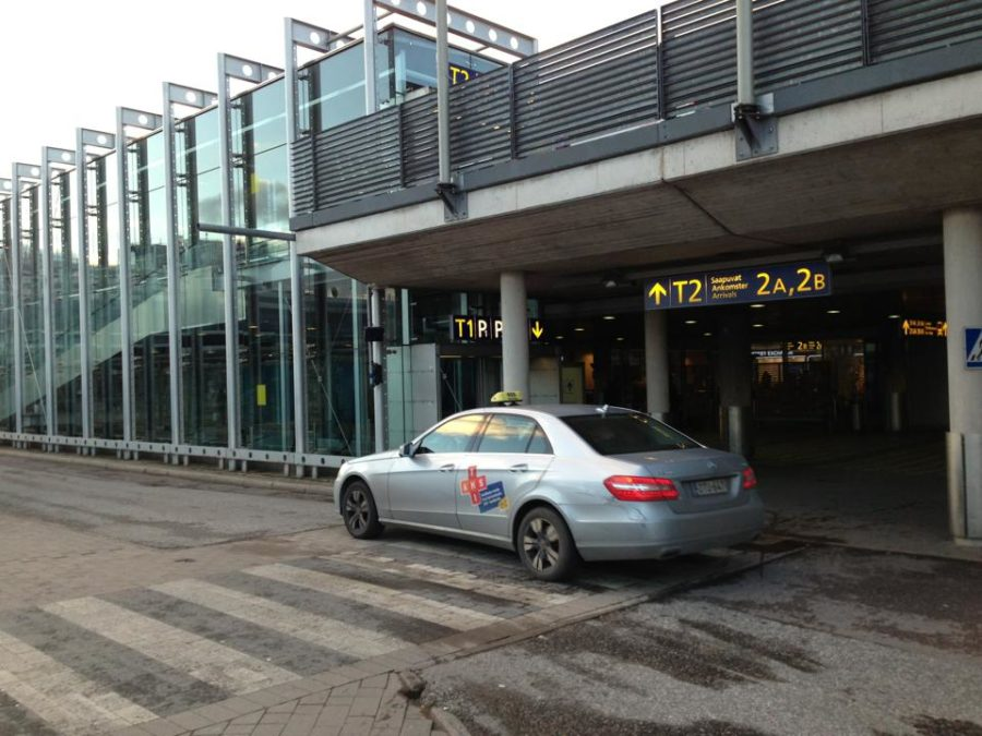 Automatic taxi dispatching Vantaa Airport RFID reader