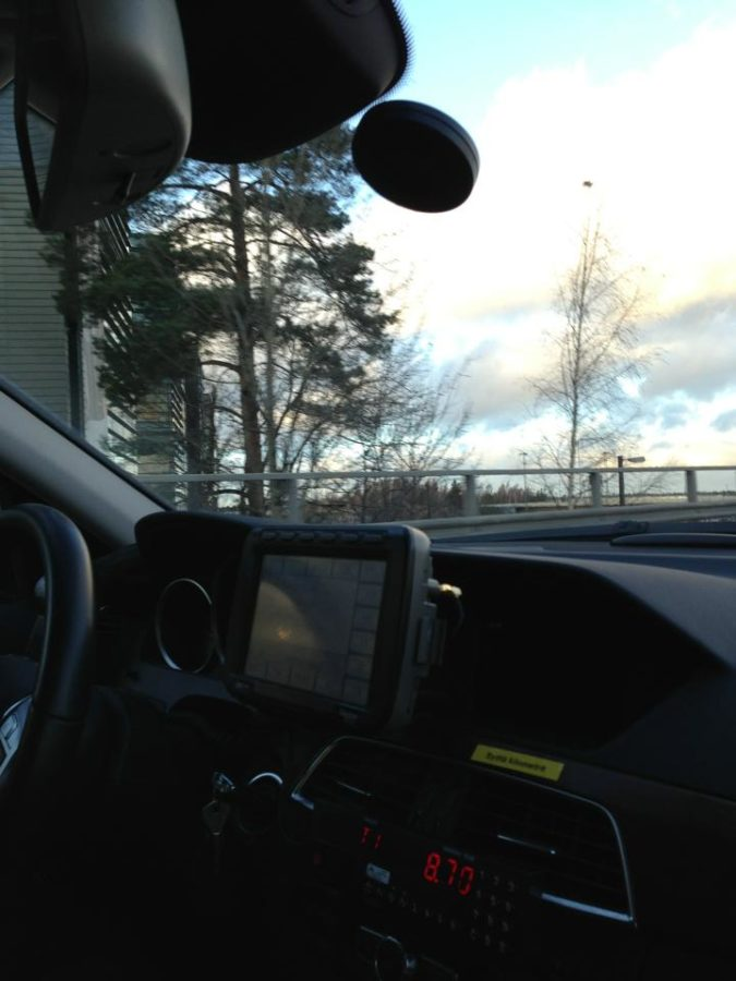 Automatic taxi dispatching Vantaa Airport RFID tag