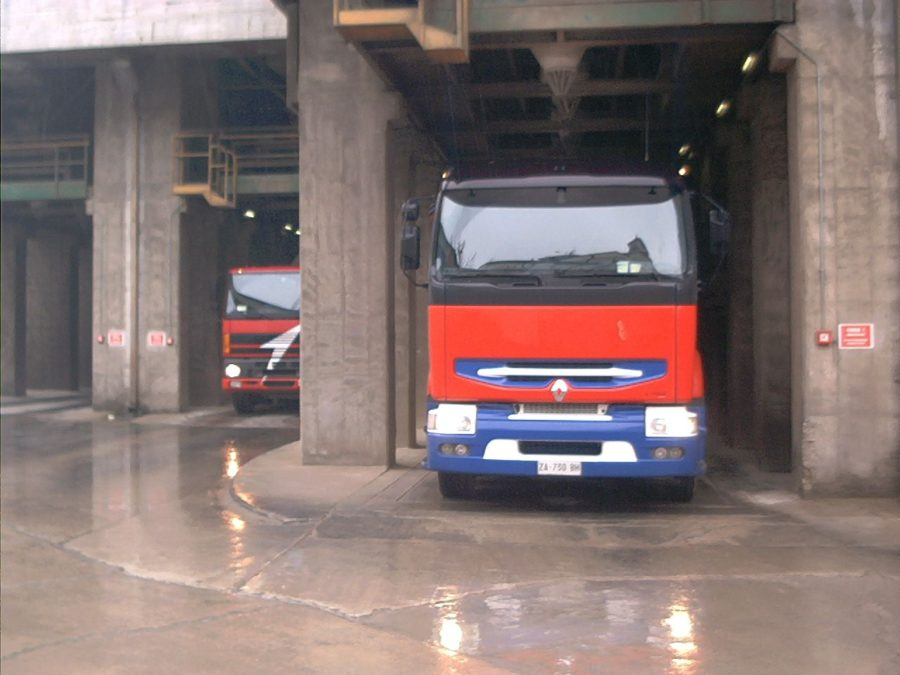 Truck identification at cement factory